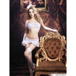 Купить Комплект женский (топ, юбка, перчатки, чулки, стринги) Charmante e9766