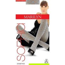 Распродажа колготки Marilyn Sophia 874 женские, 3D хлопок, ажурные, 120 den
