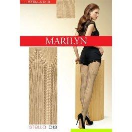Колготки Marilyn STELLA D13 женские, ажурные с имитацией ботфортов