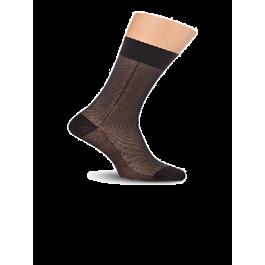 Купить Носки мужские с фактурным рисунком, мерсеризованный хлопок с полиамидом Lorenz М9