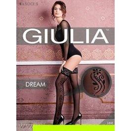 Колготки с бордюрными орнаментами из 3D хлопка Giulia Cotton Dream 01 120 den