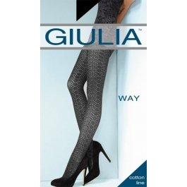 Колготки женские с змеиным узором из 3D хлопка Giulia Cotton Way 10 120 den