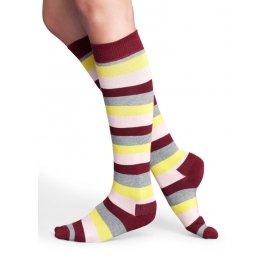 Купить Гольфы Happy Socks SA03-035, до колена, в мелкую полоску