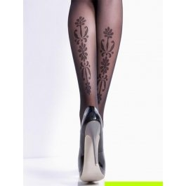 Колготки с принтом-имитацией татуировки Giulia SAFINA 02