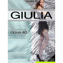 """Колготки Giulia OLIVIA 10 40 den женские, с тканым рисунком """"Круги"""""""