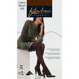 Распродажа колготки женские с хлопком и шерстью Filodoro Cotton Wool 100 den