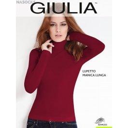 Распродажа водолазка GIULIA LUPETTO MANICA LUNGA женская бесшовная с длинным рукавом и невысокой горловиной