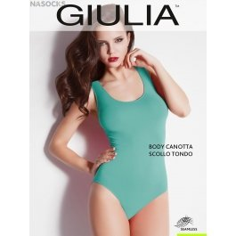 Распродажа боди-майка Giulia BODY CANOTTA SCOLLO TONDO женская бесшовная