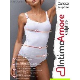 Майка женская утягивающая IntimoAmore seamless Caraco sculpture maxi