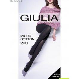 Колготки с хлопком теплые Giulia MICROCOTTON 200