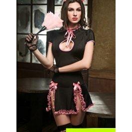 Купить Комплект женский (платье, головной убор, метелка, перчатки, чулки, стринги) Charmante e9619x