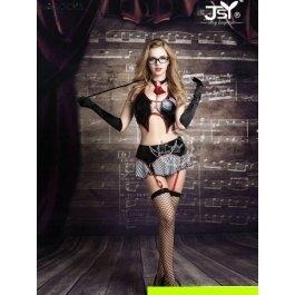 Купить Комплект женский (бюстгальтер, юбка, стринги, чулки, очки, указка, галстук, перчатки) Charmante e9721x