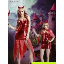 Купить Комплект женский (платье, накидка, головной убор, трезубец, стринги) Charmante e9925x