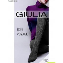 Колготки теплые с хлопком Giulia BON VOYAGE 04