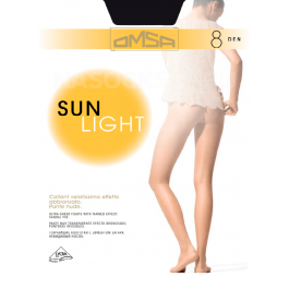 Распродажа колготки женские ультратонкие OMSA Sun Light 8 den