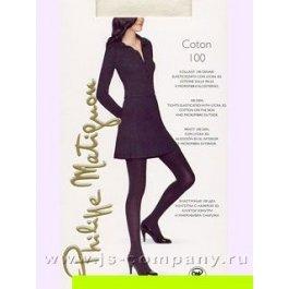 Распродажа колготки женские Philippe Matignon Coton 100 den, хлопок 64%