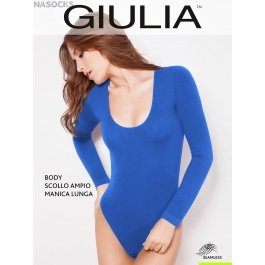 Распродажа боди Giulia BODY SCOLLO AMPIO MANICA LUNGA женское, бесшовное