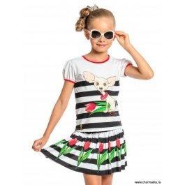 Пляжный комплект для девочек (юбка+топ) Charmante GY 011708AF Linn