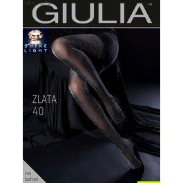Распродажа колготки с люрексом Giulia ZLATA 40