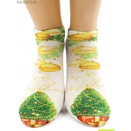 "Носки Hobby Line HOBBY 3Д101-4 носки детские ""Елочка и колокольчик"""