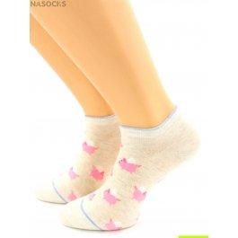 Носки Hobby Line HOBBY 529-1 носки укороченные розовые поросятки
