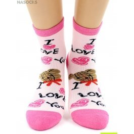 "Носки Hobby Line HOBBY 3609-3 носки детские махровые внутри ""Мишка I love you"""