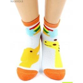 """Носки Hobby Line HOBBY 3611 носки детские махровые внутри """"Слоник с жирафом"""""""