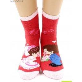 """Носки Hobby Line HOBBY 3617 носки детские махровые внутри """"Девочка с мальчиком"""""""