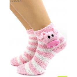 """Носки Hobby Line HOBBY 3327 носки детские махровые травка """"Хрюша 3Д"""""""