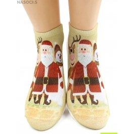 "Носки Hobby Line HOBBY 3Д07-2 носки женские ""Санта-Клаус"""