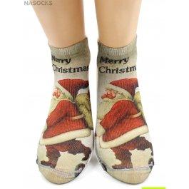 "Носки Hobby Line HOBBY 3Д07-6 женские ""Санта-Клаус"""