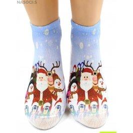 "Носки Hobby Line HOBBY 3Д07-7 женские ""Санта-Клаус"""