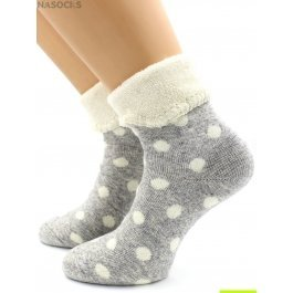 Носки Hobby Line HOBBY 6172 носки ангора, махра внутри, горошек