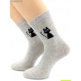 Носки Hobby Line HOBBY 6197-2 носки ангора, киска Черныш