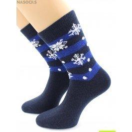 Носки Hobby Line HOBBY 6202-1 носки ангора, снежинки на полосках