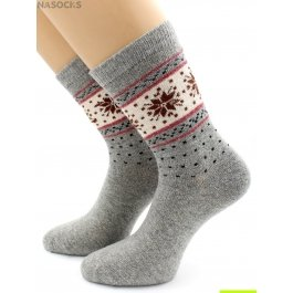 Носки Hobby Line HOBBY 6202-2 носки ангора, снежинки и крапинка