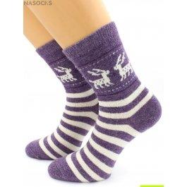 Носки Hobby Line HOBBY 6203 носки ангора, олени на полосках