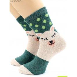 Носки Hobby Line HOBBY 6496 носки ангора, поросенок и горошек