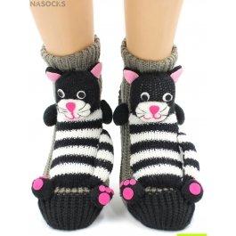 "Носки Hobby Line HOBBY 063-22 носки вязаные АВС ""Полосатый кот"""