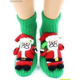 "Носки Hobby Line HOBBY 067 носки вязаные АВС ""Санта-Клаус на зеленом"""