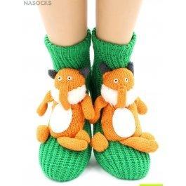 """Носки Hobby Line HOBBY 083 носки вязаные АВС """"Лисичка на зеленом"""""""