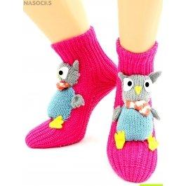 "Носки Hobby Line HOBBY 094 носки вязаные АВС ""Сова с шарфиком"""