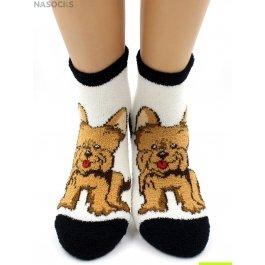 "Носки Hobby Line HOBBY 2202-21 носки махровые-пенка ""Собачка на белом"""