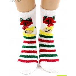 """Носки Hobby Line HOBBY 2218-5 носки махровые-пенка """"Новогодние бубенчики"""""""