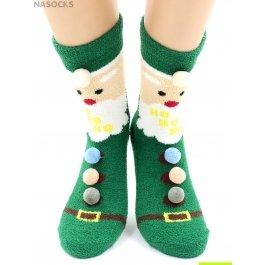 """Носки Hobby Line HOBBY 2219-2 носки махровые-пенка """"Новогодние Дед Мороз"""""""
