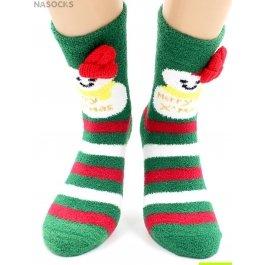 """Носки Hobby Line HOBBY 2220-2 носки махровые-пенка """"Новогодние, снеговики, шапка"""""""