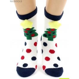 "Носки Hobby Line HOBBY 2222-3 носки махровые-пенка ""Новогодние, елочки 3Д"""