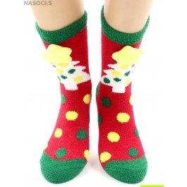 "Носки Hobby Line HOBBY 2222-5 носки махровые-пенка ""Новогодние, елочки 3Д"""