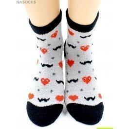 "Носки Hobby Line HOBBY 2249-11 носки махровые-пенка ""Сердечки LOVE на сером"""
