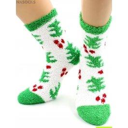 "Носки Hobby Line HOBBY 049-2 носки махровые-травка  ""Елочка на снегу"""